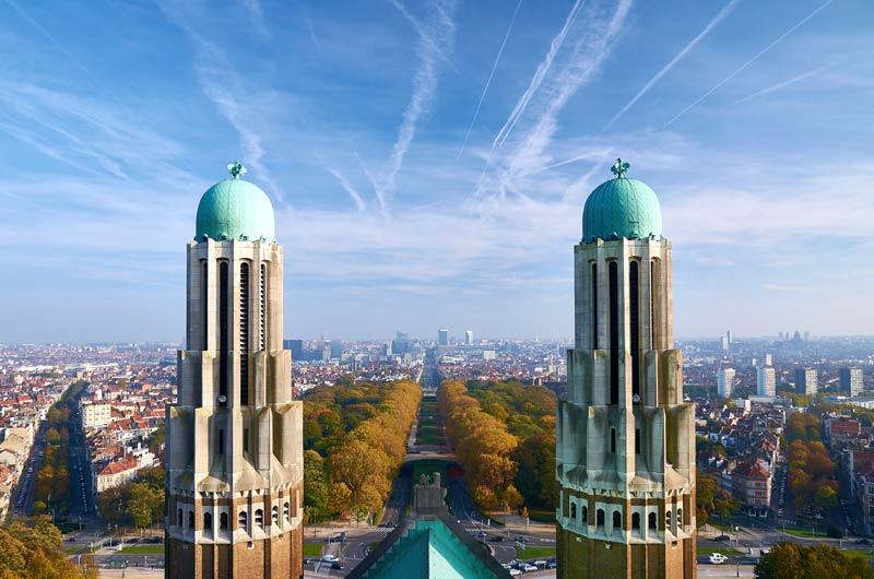 Basiliek Koekelberg - panorama Brussel