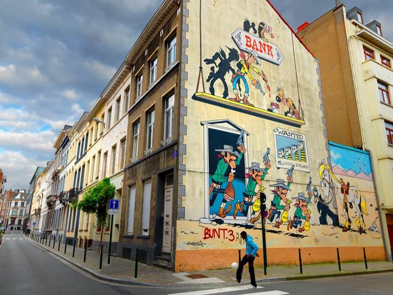 Streetart in de Marollenwijk